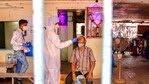 A heath worker conducts Covid-19 testing of a man at Dadar market, amid a surge in coronavirus cases across Maharashtra, in Mumbai.